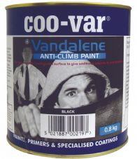 Coo-Var Vandalene Anti-Climb Paint - Black - 4.0kg